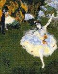 [5852] オリムパス クロスステッチキット ART GALLERY アートギャラリー 「舞台の踊り子」ドガ作 No876 (額別売)