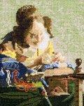 [5854] クロスステッチキット ART GALLERY アートギャラリー 「レースを編む女」フェルメール作 No878 (額別売)