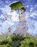 [5861] オリムパス クロスステッチキット ART GALLERY アートギャラリー 「日傘をさす女」モネ作 No7215 (額別売)