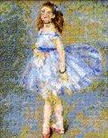 [5859] クロスステッチキット ART GALLERY アートギャラリー 「踊り子」ルノワール作 No7030 (額別売)