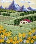 [5870] クロスステッチキット オノエ・メグミの物語からの花咲く風景 〜アルプスの山並みとハイジの花畑〜 No7425 (額別売)