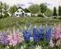 [5871] クロスステッチキット オノエ・メグミの物語からの花咲く風景 〜ルピナスの花咲くアンの家〜 No7426 (額別売)