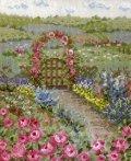 [5869] クロスステッチキット オノエ・メグミの物語からの花咲く風景 〜バラの花咲くピーターの庭〜 No7424 (額別売)