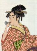 [5864] クロスステッチキット 日本の美 名作選 ポペンを吹く娘 喜多川歌麿筆より No7185 (額別売)
