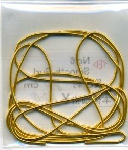 画像1: [6513] No.6 Smooth Purl ゴールド 約30cm