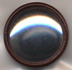 画像1: [7563] オリジナル木製ブローチ台 丸 [色:茶]
