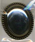[3459] ブローチ台 楕円 大 ゴールド タテ BP-1108