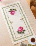 [4305] オリムパス クロスステッチししゅうキット オノエ・メグミの安らぎの花たち No1191(ベージュ) スカーレットローズ