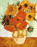 [5855] オリムパス クロスステッチキット ART GALLERY アートギャラリー 「ひまわり」ゴッホ作 No879 (額別売)
