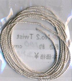 画像1: [6420] No.2 Twist シルバー 約100cm