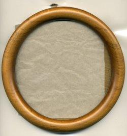 画像1: [1076] 丸額 中 14cm 淡い茶
