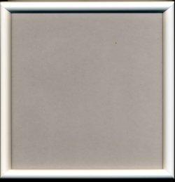 画像1: [1094] かまぼこ額 24cm×24cm 白