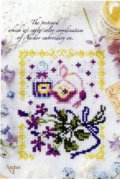 [6735] 暮らしを彩る刺しゅうのひととき アンカー ポストカードシリーズ 『ラ・ヴィオレット 春摘みの匂いスミレ』
