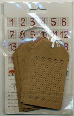 画像2: [7133] RICO Stitchable gift tags 08792.78.81 茶色