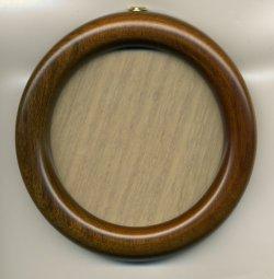 画像1: [1075] 丸額 小 9cm 淡い茶