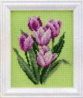 [7200] LECIEN COSMO 四季折々の花だより クロスステッチキット 7623 3月 チューリップ