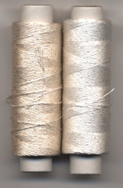 画像1: [7775] 越前屋オリジナル ラメ入り絹レース糸 約100m巻