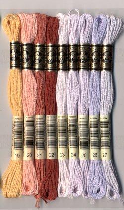 画像4: [7790] DMC刺しゅう糸25番糸 ※新色 色番号01-35番