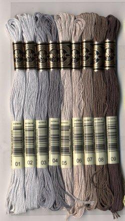 画像2: [7790] DMC刺しゅう糸25番糸 ※新色 色番号01-35番