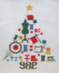 [7794] Kitooka(キトオカ) クロスステッチチャート C-1 Merry Christmas ※図案のみ(材料・道具は含まれません)