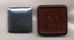 画像1: [6555] オリジナル木製ブローチ台 四角