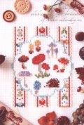 [7835] 暮らしを彩る刺しゅうのひととき アンカー ポストカードシリーズ 7『森の収穫祭 キノコとハリネズミ』