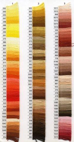 画像2: [0041] アンカー刺しゅう糸25番糸 778-979番