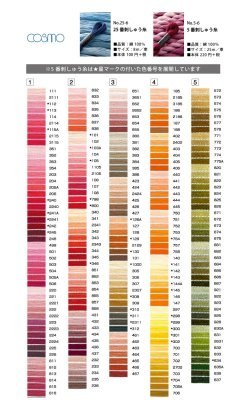 画像2: [0083] ルシアン コスモ刺しゅう糸25番糸 1000-4905番