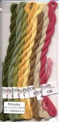 [7875] fru zippe flora cotton 8色セット【Kitooka C4 クレソンとアスパラガス チャート使用色】※糸のみ(図案・生地・道具は含まれません)
