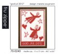"[7961] fru zippe クリスマスキット ""god jul 2012"" 品番:70-0240"