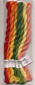 [7992] fru zippe flora cotton 7色セット【Kitooka C5 トマトとパプリカ チャート使用色】※糸のみ(図案・生地・道具は含まれません)