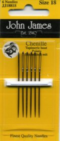 [8025] JOHN JAMES Chenille England シェニール針 6本入り Size 18