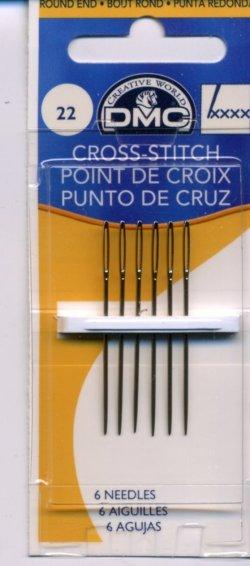 画像1: [8042] DMC CROSS-STITCH POINT DE CROIX DMC クロスステッチ針 No.22 ,6本入