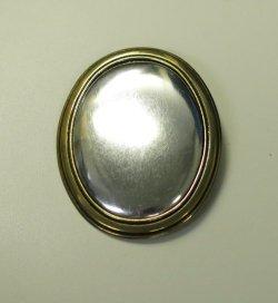 画像1: [8065] ブローチ台 楕円 ゴールド タテ BP-532