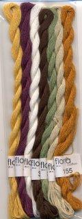 [8176] fru zippe flora cotton 7色セット【Kitooka C6 カボチャとドングリ チャート使用色】※糸のみ(図案・生地・道具は含まれません)