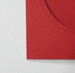 画像2: [8180] プレゼントカード 赤:楕円 2枚セット封筒付き