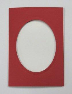 画像3: [8180] プレゼントカード 赤:楕円 2枚セット封筒付き