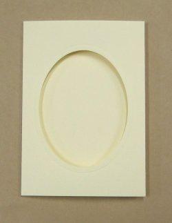 画像1: [8220] プレゼントカード アイボリー:楕円 2枚セット封筒付き