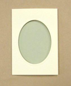 画像3: [8220] プレゼントカード アイボリー:楕円 2枚セット封筒付き