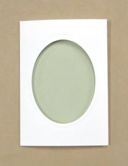 画像3: [8254] プレゼントカード 白:楕円 2枚セット封筒付き