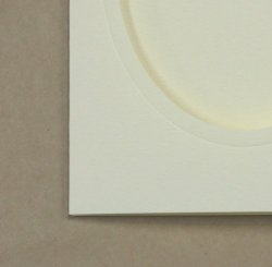 画像2: [8220] プレゼントカード アイボリー:楕円 2枚セット封筒付き