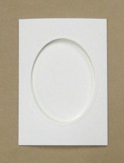 画像1: [8254] プレゼントカード 白:楕円 2枚セット封筒付き