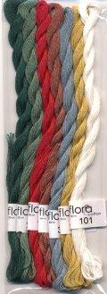 [8271] fru zippe flora cotton 7色セット【Kitooka C8 クリスマスカード チャート使用色】※糸のみ(図案・生地・道具は含まれません)