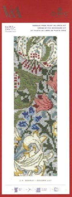 画像1: [8429] DMCクロスステッチキット Golden Lily / J.H. Dearle 品番:BL1173/77