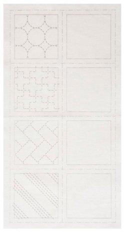 画像2: [8510] ルシアン COSMO hidamari 刺し子コースターが4枚作れるクロス 刺し子/白 no.98901