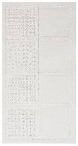 画像2: [8512] ルシアン COSMO hidamari 刺し子コースターが4枚作れるクロス 一目刺し/白 no.98903