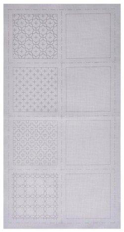 画像2: [8513] ルシアン COSMO hidamari 刺し子コースターが4枚作れるクロス 一目刺し/グレー no.98904