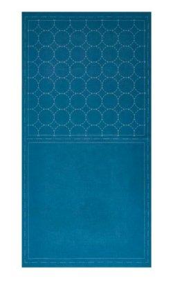 画像2: [8516] ルシアン COSMO hidamari 刺し子綿麻マルチクロス 丸つなぎ/ブルー no.98905-70