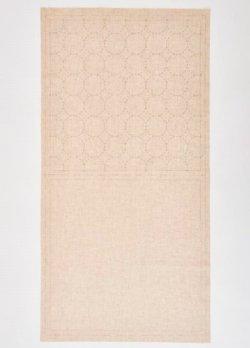 画像2: [8514] ルシアン COSMO hidamari 刺し子綿麻マルチクロス 丸つなぎ/生成 no.98905-12