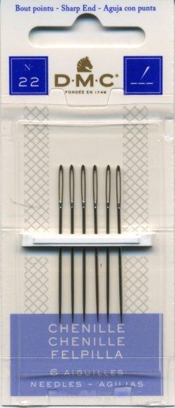 画像1: [8054] DMC CHENILLE DMC シェニール針 No.22 ,6本入